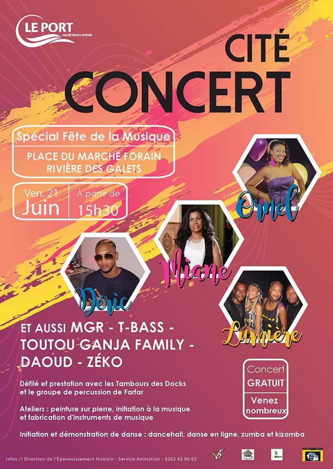 Cité Concert « spéciale fête de la musique » à la Rivière des Galets.
