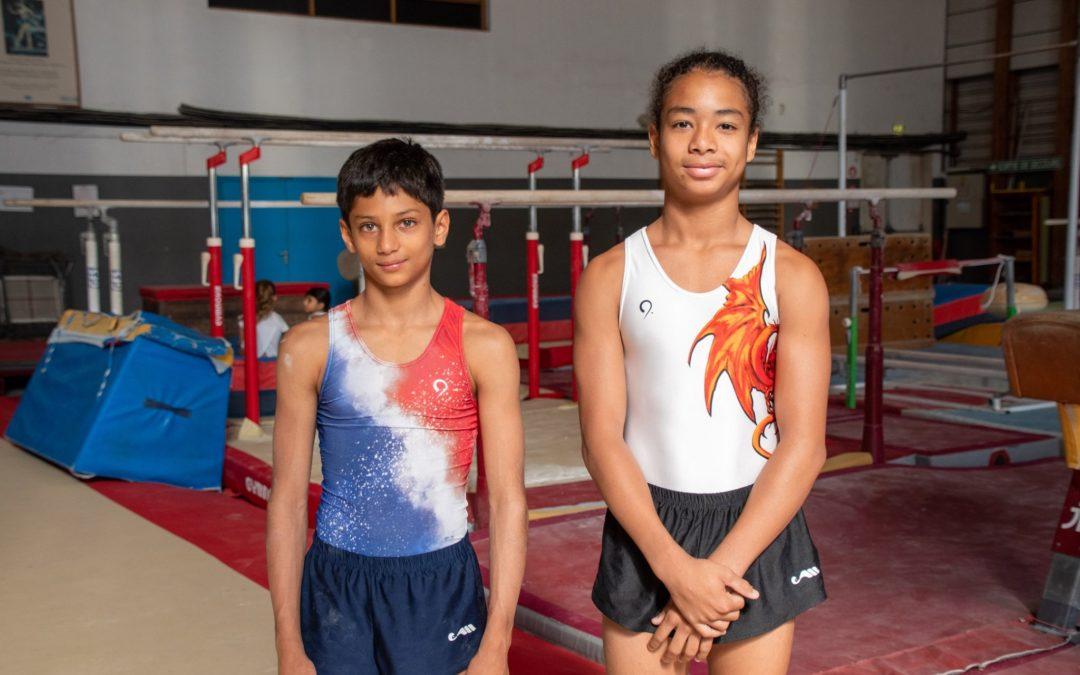 Vacances studieuses pour les gymnastes Portois Pierre et Enzo