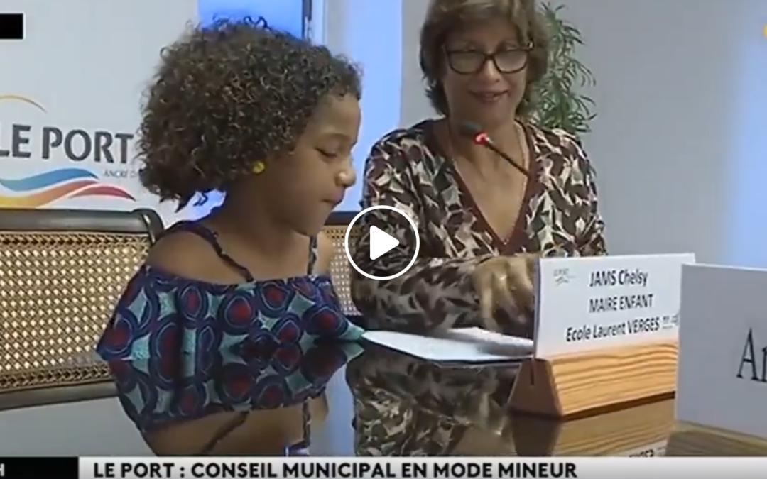 Reportage de Réunion La 1ère sur le dernier Conseil Municipal des Enfants