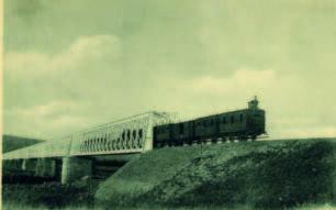 Le pont de chemin de fer de la rivière des Galets