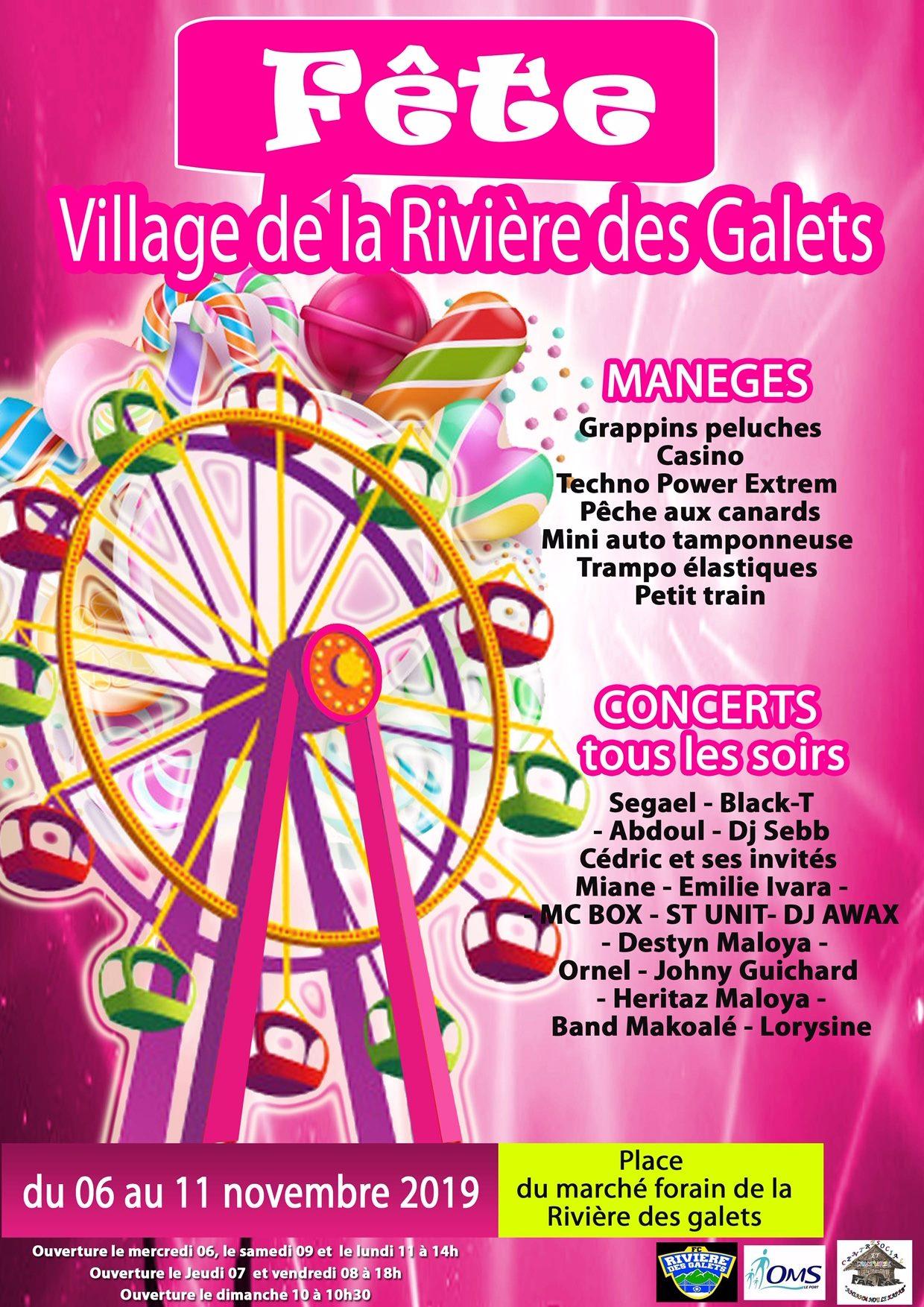 Fête du village de la Rivière des Galets