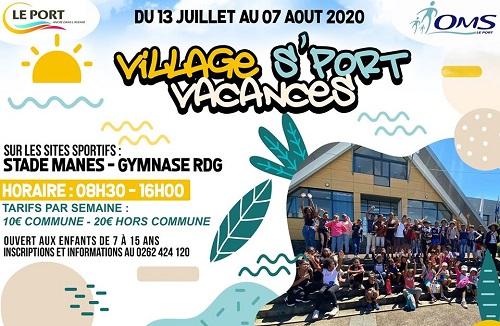 Village S'port Vacances : ouverture des inscriptions