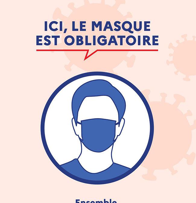 Port du masque obligatoire à la mairie