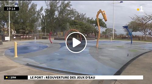 [Vidéo] Réunion la 1ère : Réouverture des jeux d'eau au Port