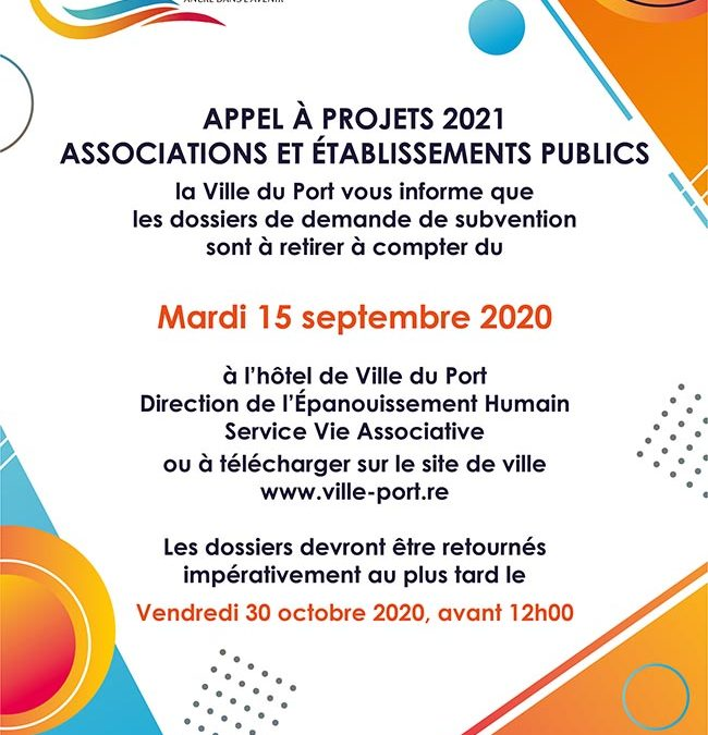Appel à projet 2021 / Associations et établissements publics