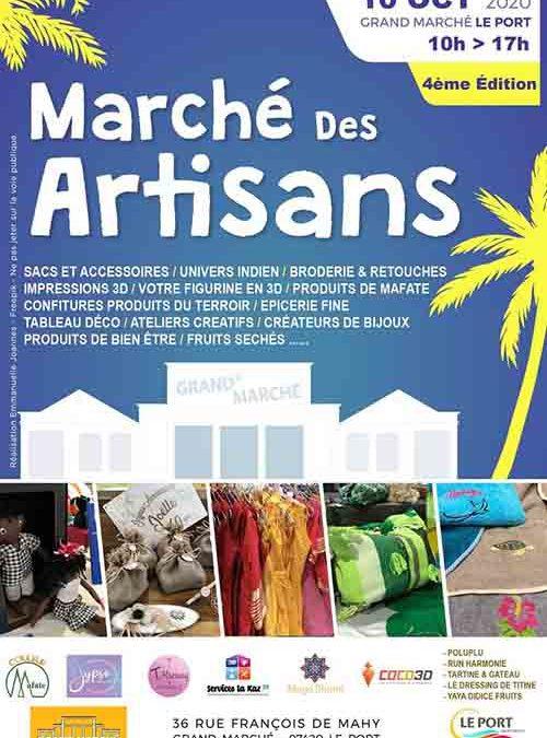 Marché des artisans, nouvelle édition ce samedi 10 octobre au Grand Marché de 10h à 17h.