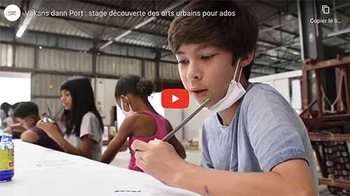 [Vidéo] Vakans dann Port : stage découverte des arts urbains pour ados