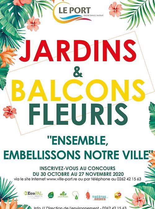 Formulaire d'inscription du concours jardins et balcons fleuris 2020
