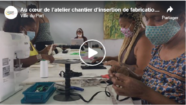 Au cœur de l'atelier chantier d'insertion de fabrication des masques