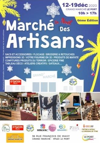 Marché des artisans : les 12 et 19 décembre au Grand marché