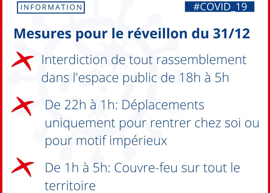 Covid-19: retrouvez les mesures annoncées par le Préfet pour la saint Sylvestre.