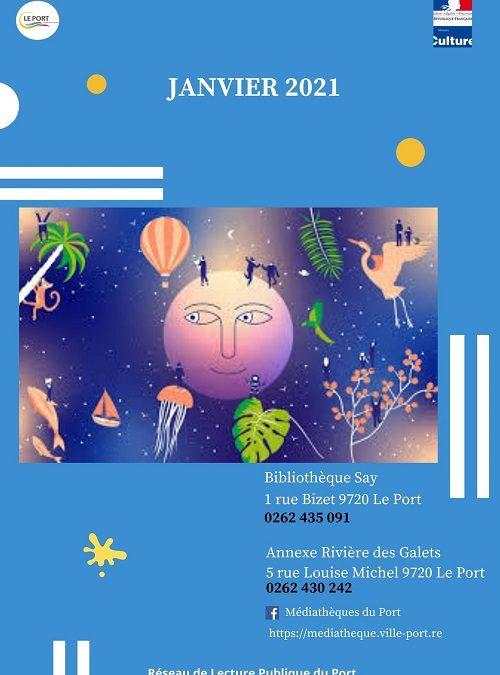 Réseau de lecture du Port – Programme janvier 2021