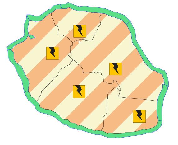 Vigilance Orage à la Réunion
