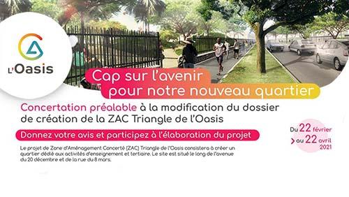 Donnez votre avis et participez à l'élaboration du projet ZAC Triangle de l'Oasis