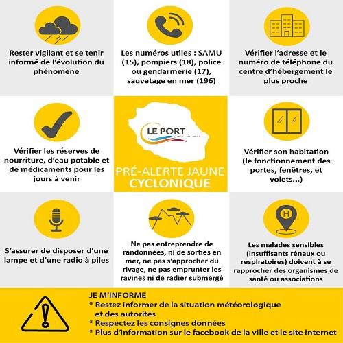 Pré-alerte jaune cyclonique [Je m'informe]
