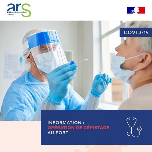 Coronavirus : opération de dépistage ce vendredi 16 au Port