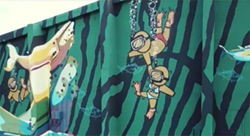 [vidéo] Jace et Gorg One signent une fresque géante au Port