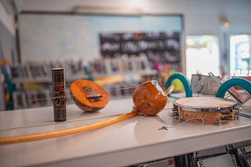 Exposition sur les instruments de musique