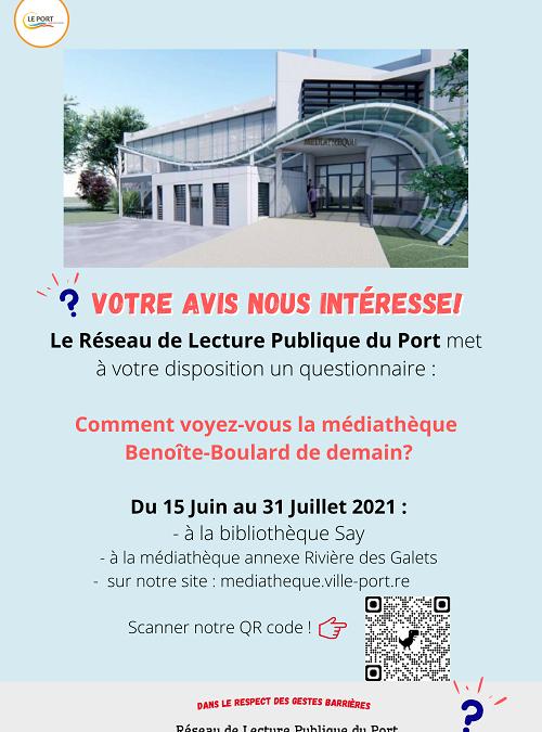 Sondage : comment voyez-vous la médiathèque Benoite Boulard de demain?
