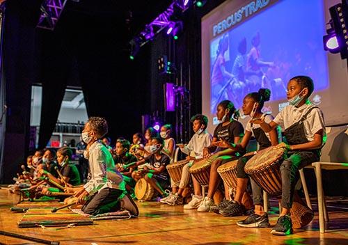 Percus'trad : spectacle de percussions des élèves portois