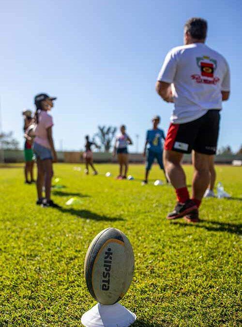 Vakans dann Port : initiation au rugby