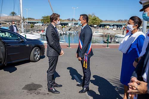Visite du secrétaire d'Etat, Clément Beaune au Port