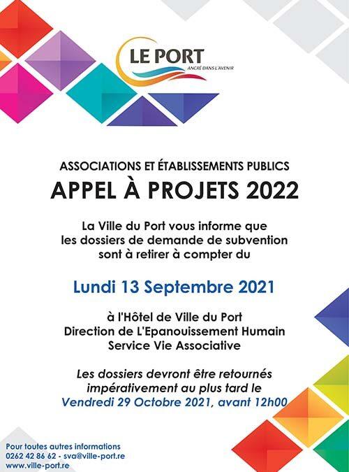 Demande de subvention : appel à projets 2022